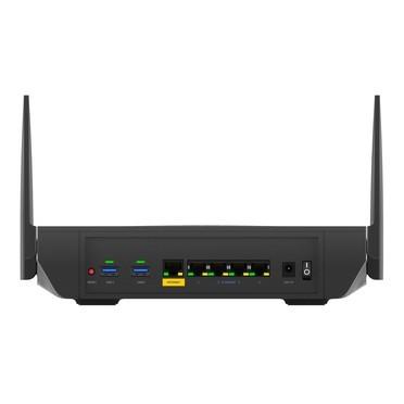 Ảnh chụp sản phẩm phía sau Bộ định tuyến Wi-Fi 6 băng tần kép Linksys (MR9600)